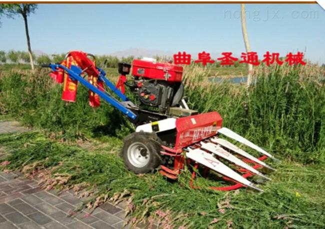 农用麦稻小型收割机 手扶式半枝莲低茬收割机