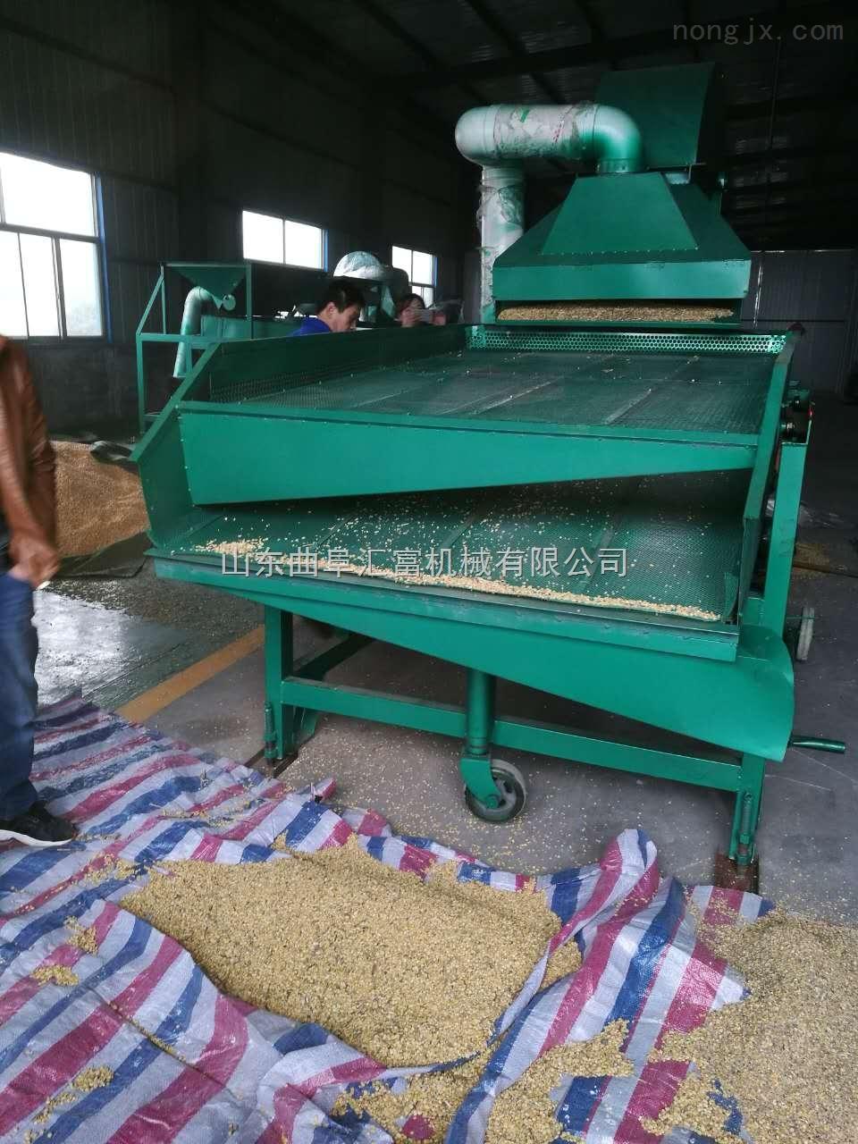粮食清理除杂筛选机 玉米清选杂质筛分机 震动清杂除石机