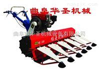 自走侧铺水稻收割机 全链条手扶收割机
