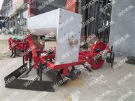 四轮车带动谷子播种机 新型膜上种植机