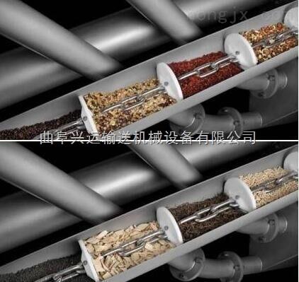 灰料用管鏈式投料提升機,粉末管鏈輸送機