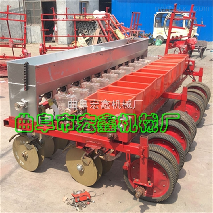 新款多行玉米免耕播种机 两行 三行高粱 大豆精播机