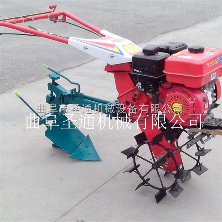 家用大蒜种植犁沟耘锄机 多功能小型微耕机