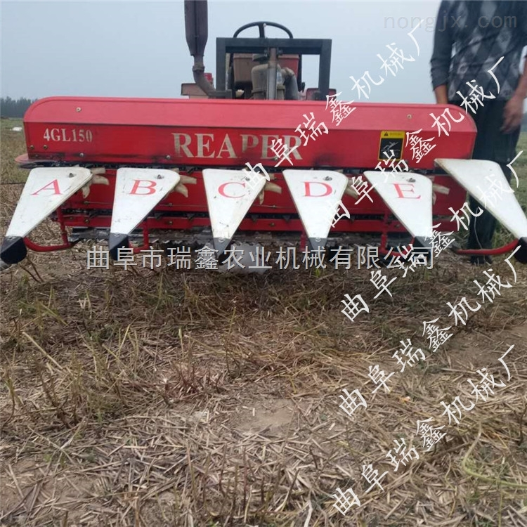 简阳大豆割晒机 农作物大豆收割晾晒 山东小型大豆收割机