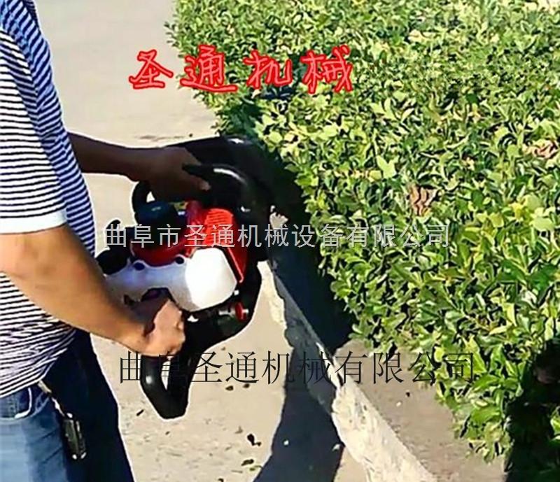 街道灌木造景綠籬機 手推式汽油耐用修剪機