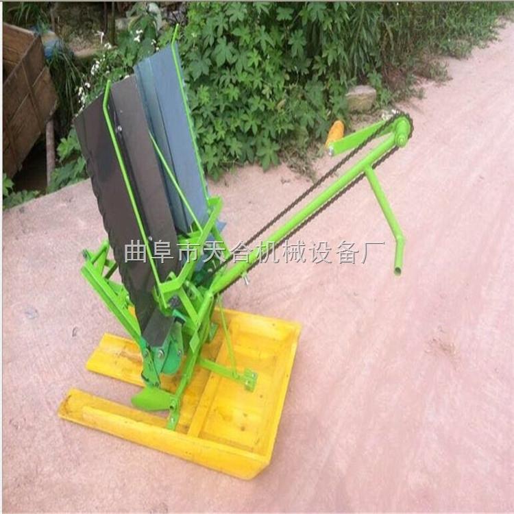 手摇式插秧机 小型插秧机 双行人力步退式插秧机 重量轻 体积小