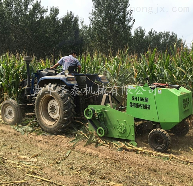 农牧秸秆粉碎打捆机玉米秸秆青贮打包机