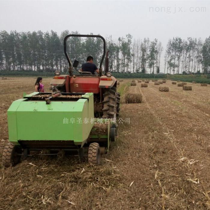 圣泰收割打捆机价格牧草收割粉碎打包机