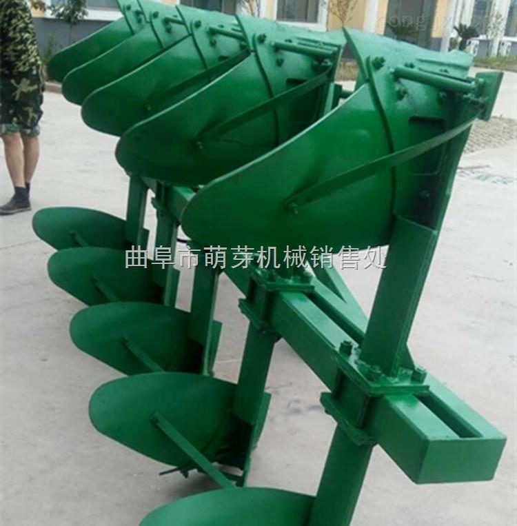 柴油液压翻转犁拖拉机带大型四铧栅条犁