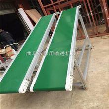 帶寬500爬坡式鋁型材帶式輸送機,防滑PVC帶式食品袋傳送機
