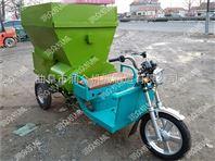 牛场饲料喂料车 电动车配套撒料车 电动撒料车图片