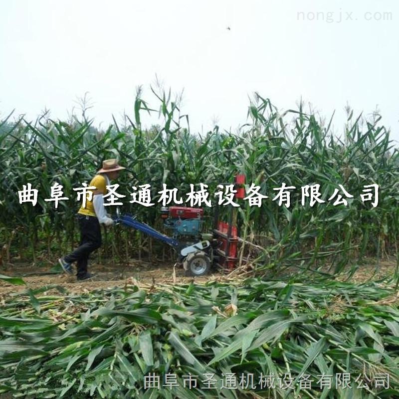优质小型谷物收割机,梯田专用玉米秸秆割倒机