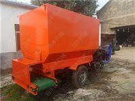 养殖喂料车型号 动力撒料车规格撒料车