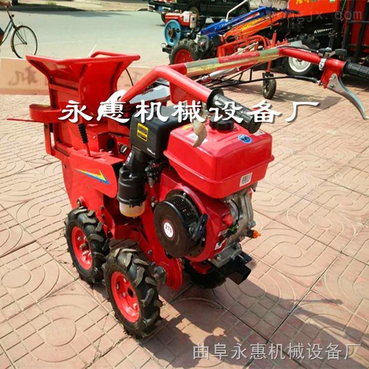 汽油动力自走式玉米棒子收获机 单行玉米收获机