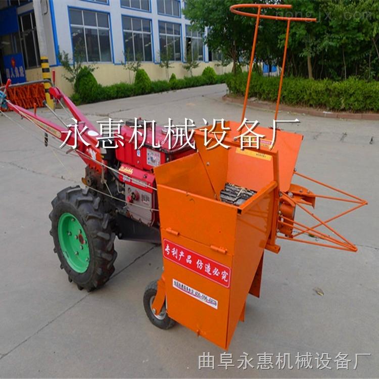 鲜玉米秸秆收割粉碎机 手扶式单行苞米收获机
