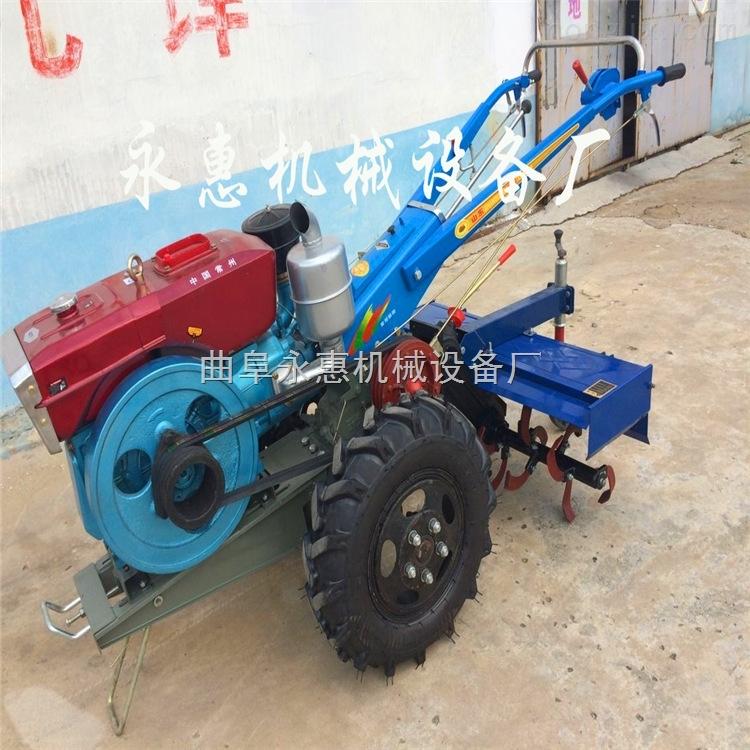 農用打田機廠家  12馬力電啟動旋耕除草機 柴油水冷發動機