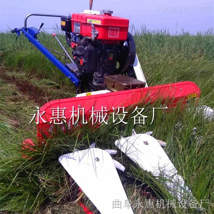 四轮夏枯草高粱收割机专用  手扶带动玉米收割机