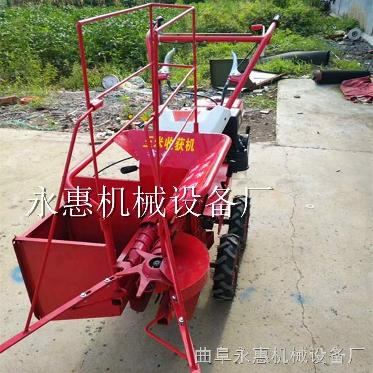 小型单行玉米收割机 手扶带动玉米收割机