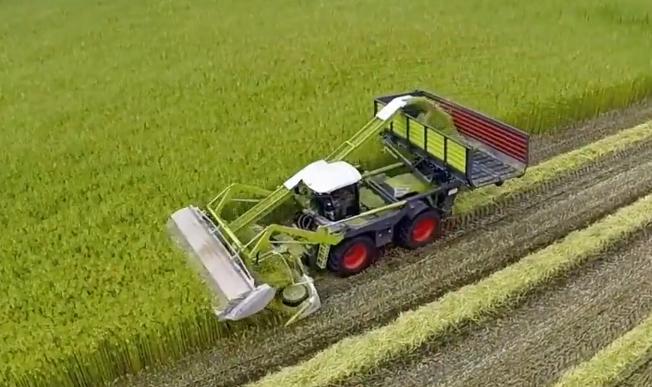 农机中的变形金刚, 头一次看这种造型的收获机