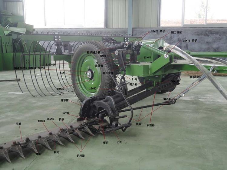 1米割幅割搂一体机 拖拉机液压割搂草机 苜蓿割草搂一体机图片