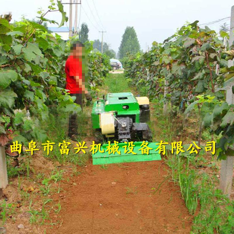 全自动履带式田园管理机 富兴果园耕地施肥除草一体机哪里有卖